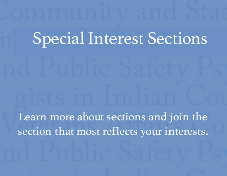Special Interest Sections