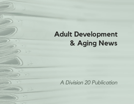 Adult Development and Aging News