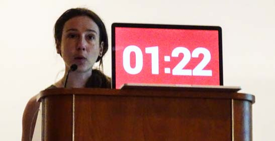 Irene Pericot-Valverde, PhD races to beat the clock.