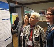Members at poster session