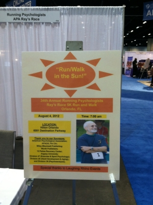 Ray's Race sign inside the APA Convention