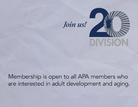 Become a member or Division 20