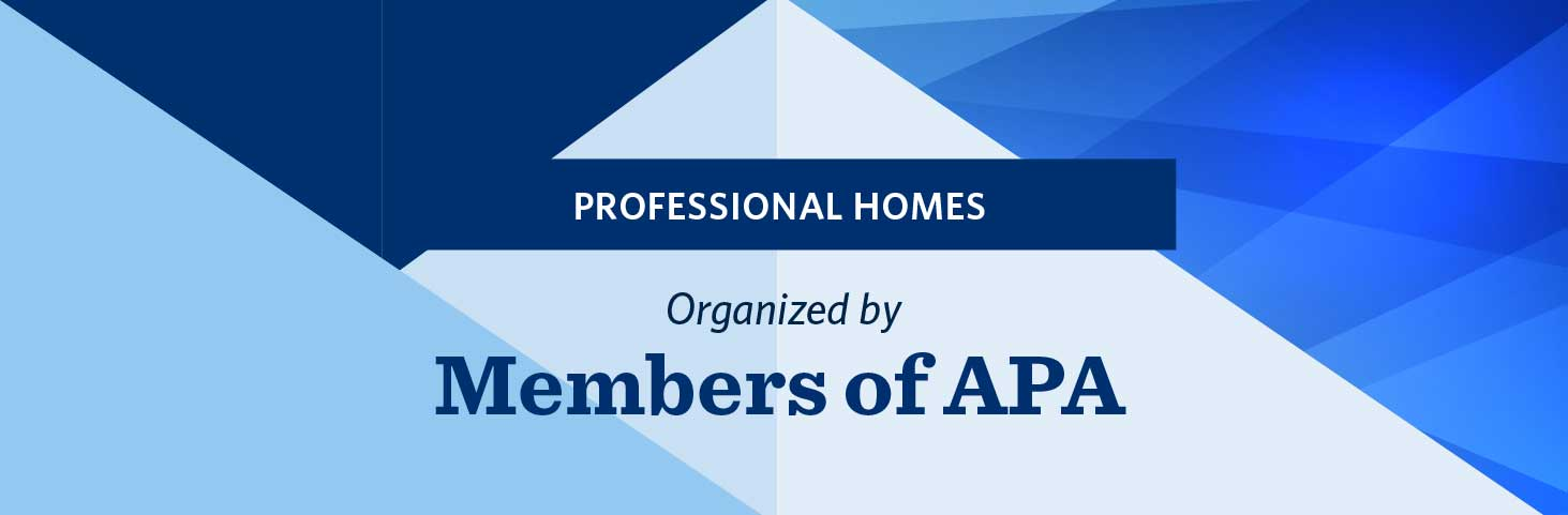 Professional Homes Organized By Members Of APA