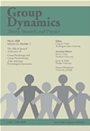 Division 49 Journal, Group Dynamics: Theory, Research, and Practice